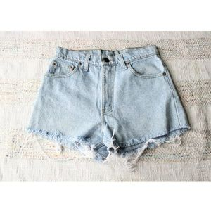 VTG Levi's Jean Denim Cutoff High Waist Rise Short